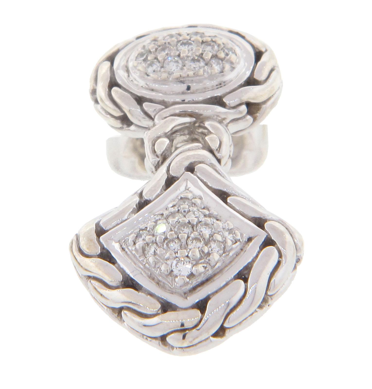 John hardy diamond drop earrings ebay for John hardy jewelry earrings